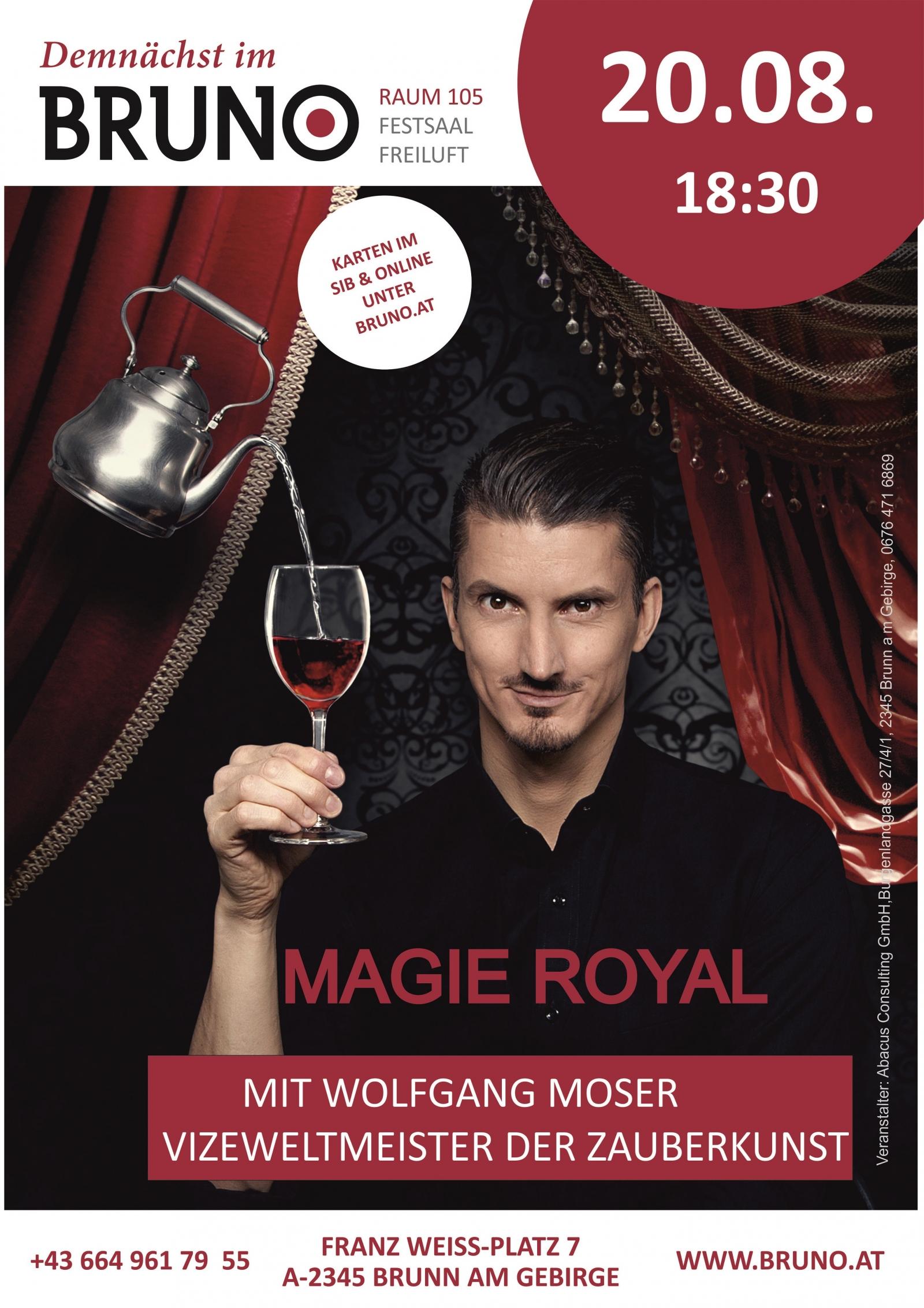 Magie Royal  mit Wolfgang Moser - Vizeweltmeister der Zauberkunst