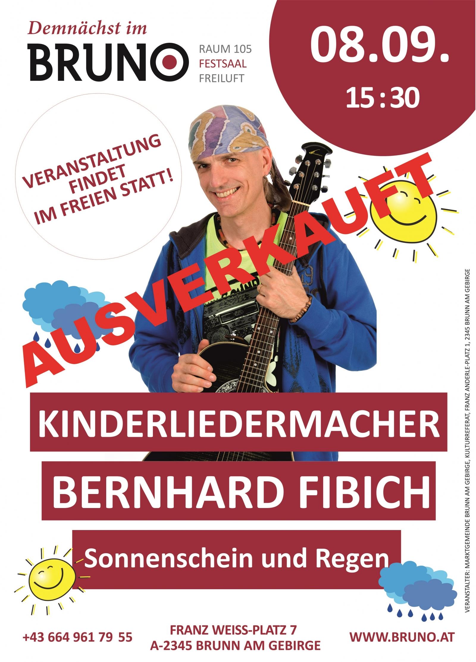 """Bernhard Fibich – """"Sonnenschein und Regen"""