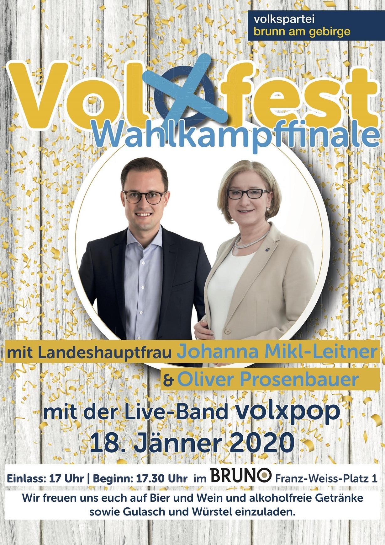 Volxfest Wahlkampffinale