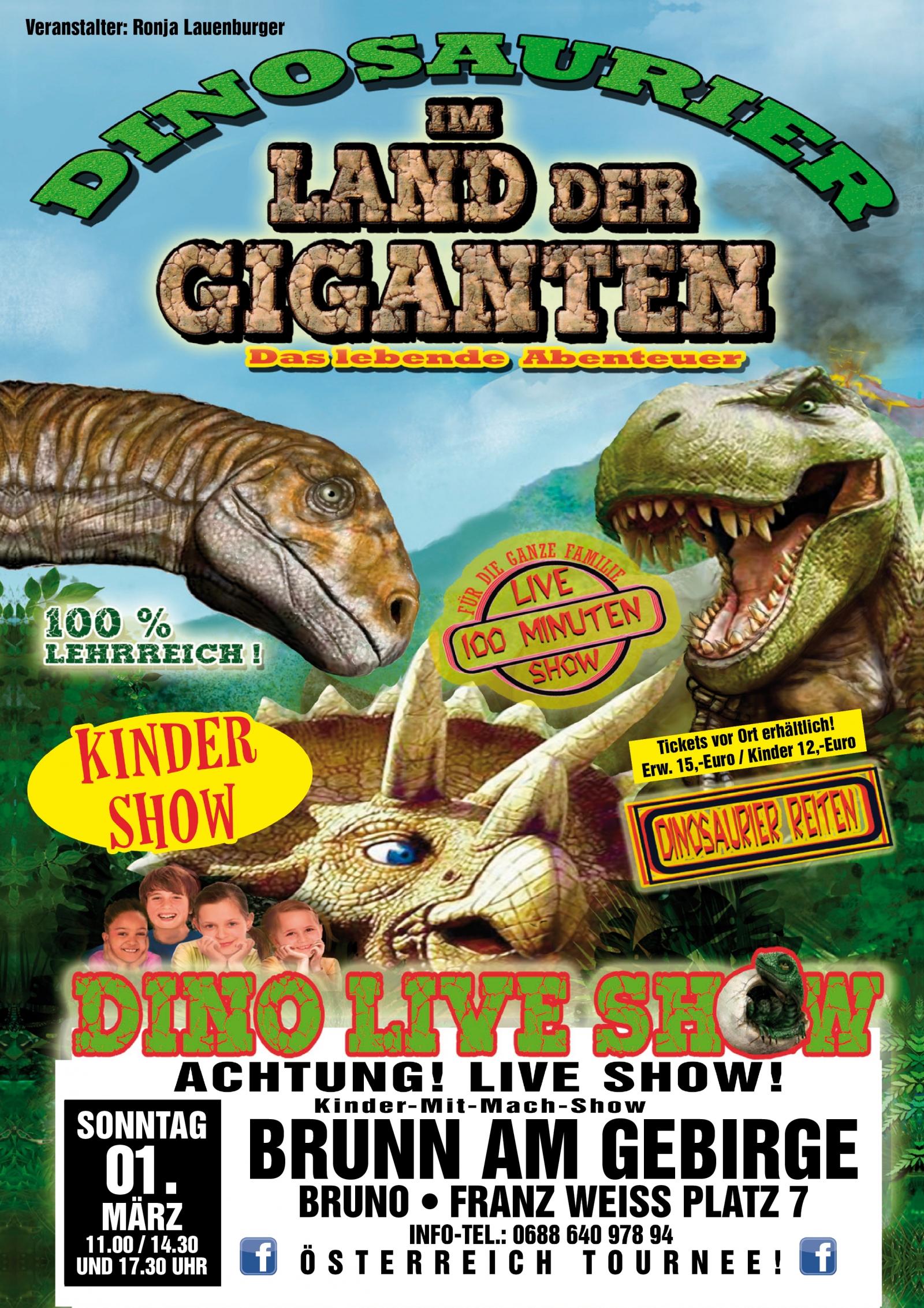 Im Land der Giganten - Das lebende Abenteuer für die ganze Familie