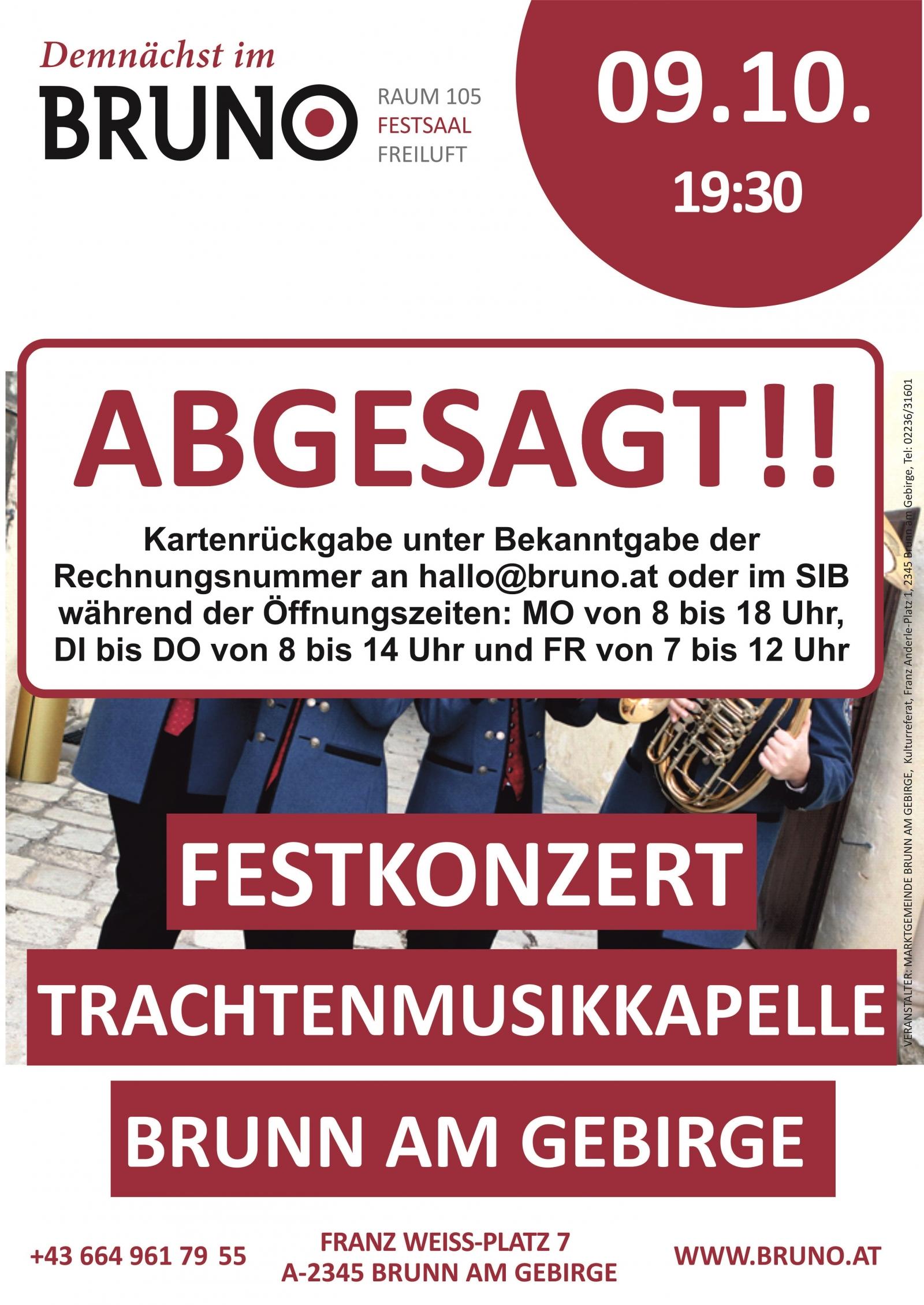 Festkonzert der Trachtenmusikkapelle Brunn am Gebirge