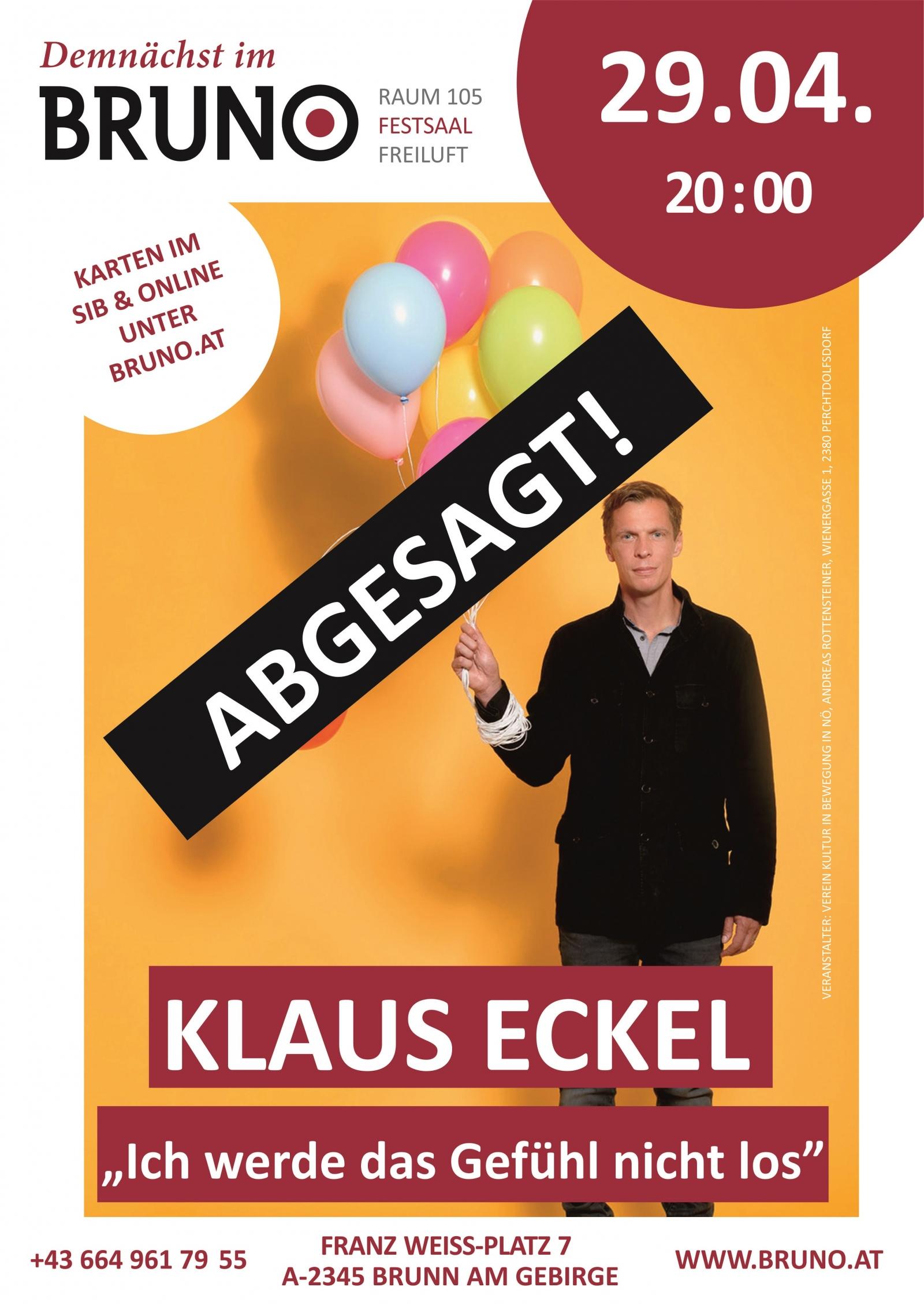 Klaus Eckel Ich werde das Gefühl nicht los