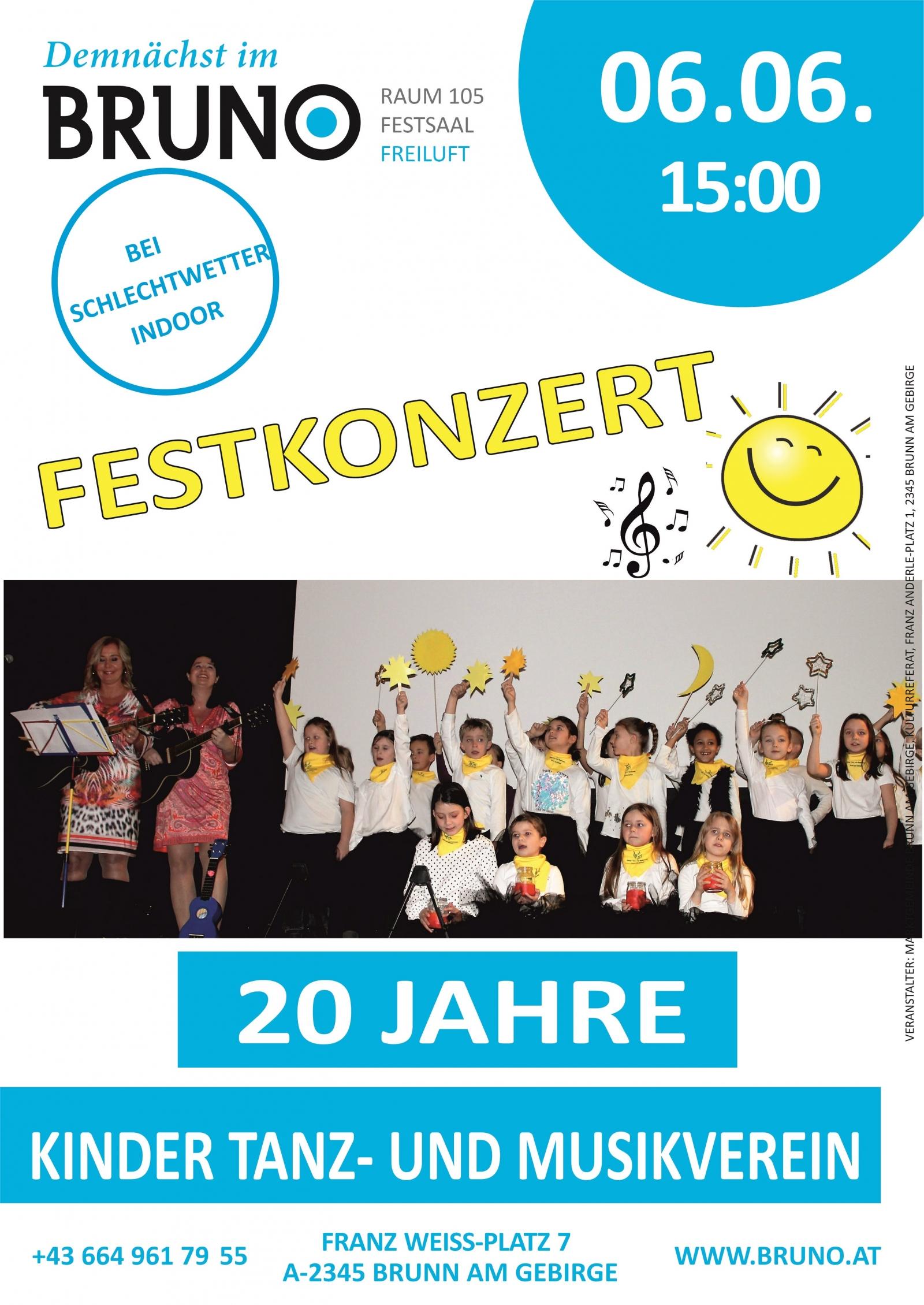 Festkonzert des Kinder Tanz - und Musikvereins Brunn am Gebirge