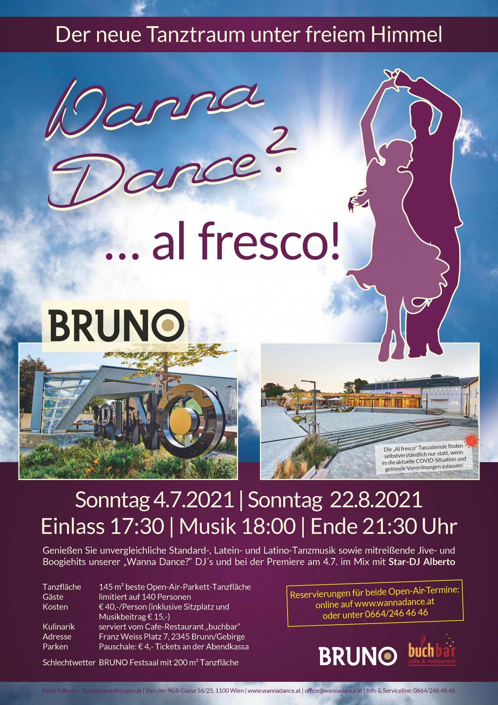"""Al fresco! Der neue """"Wanna Dance?"""" Tanzabend im Freien"""
