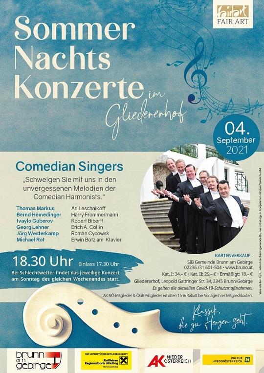 Sommernachtskonzert im Gliedererhof - Comedian Singers - unvergessene Melodien der Comedian Harmonists