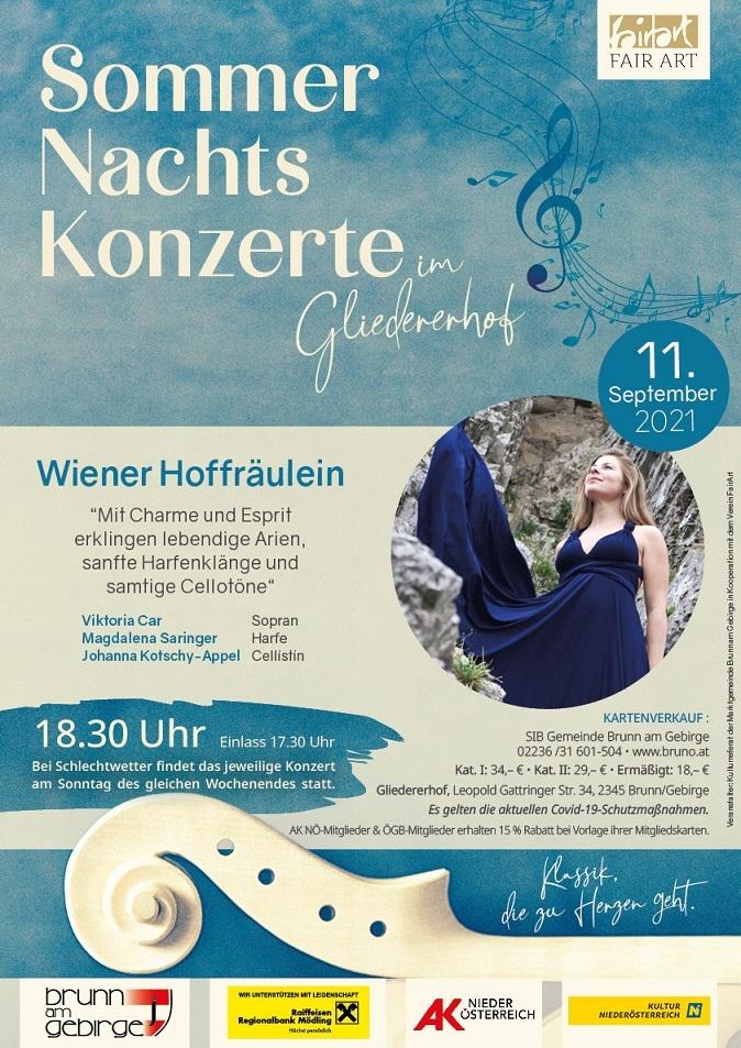 Sommernachtskonzert im Gliedererhof - Wiener Hoffräulein