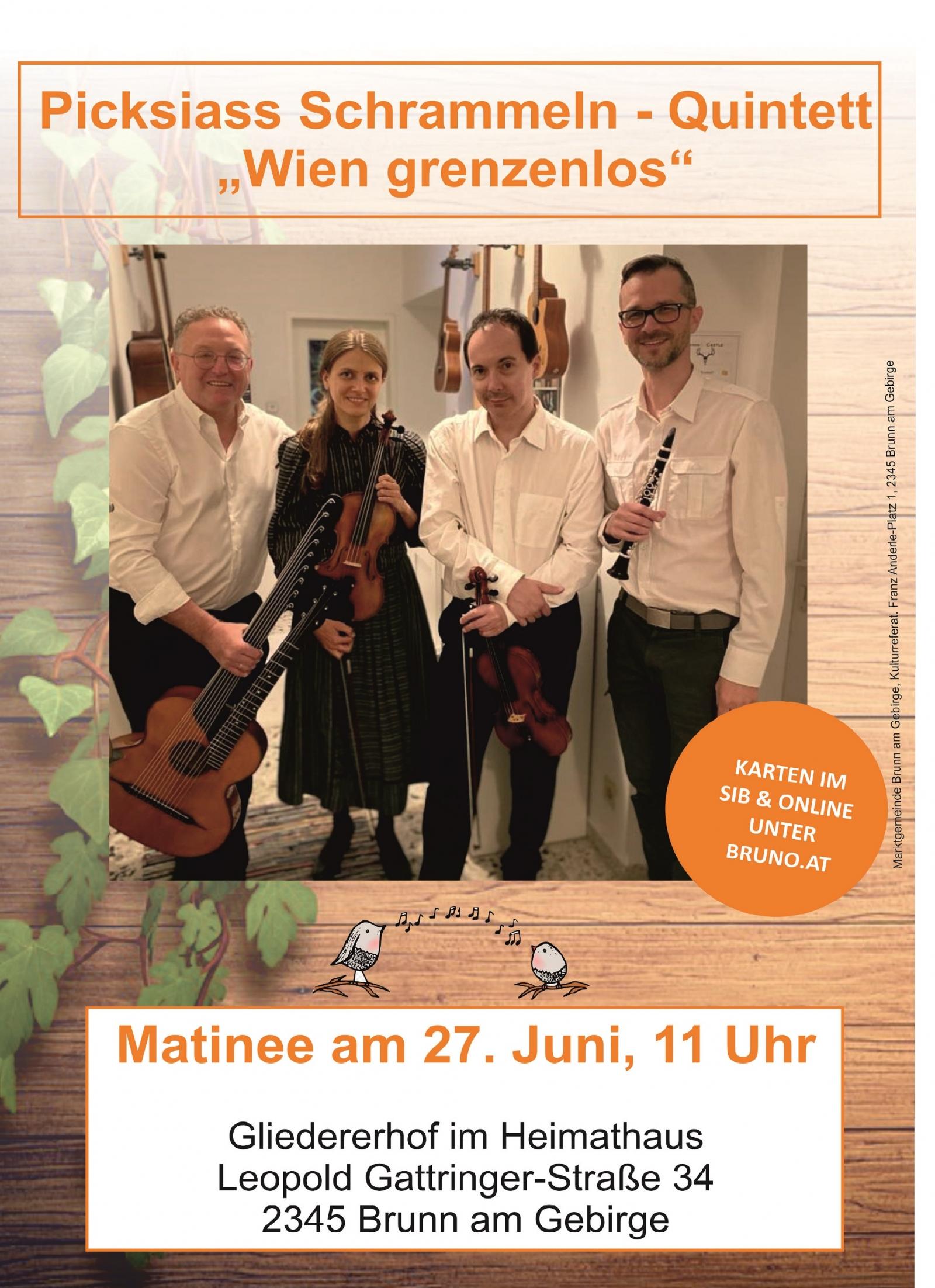 Picksiass Schrammeln - Quintett Wien grenzenlos