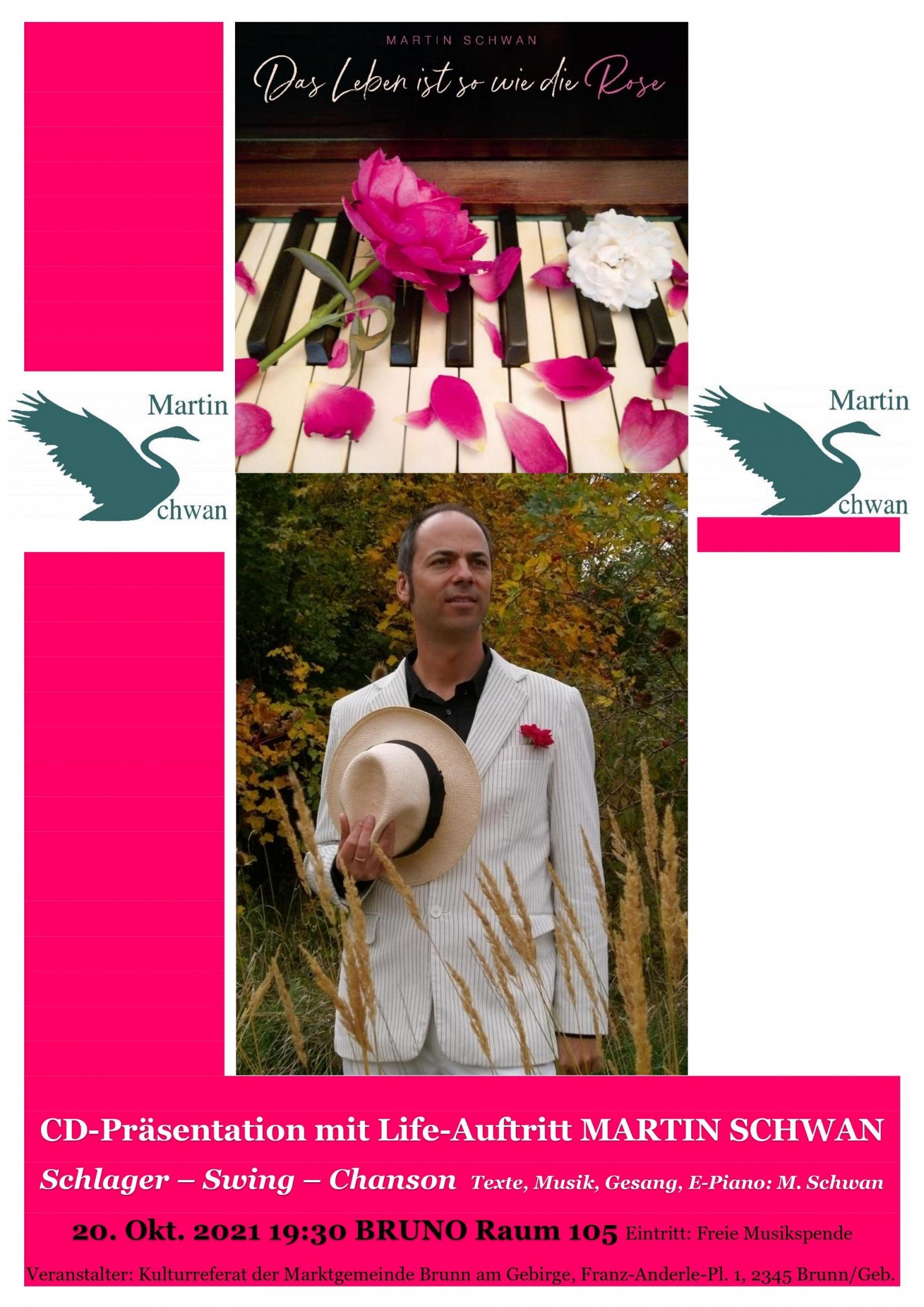 CD Präsentation Martin Schwan Das Leben ist so wie die Rose