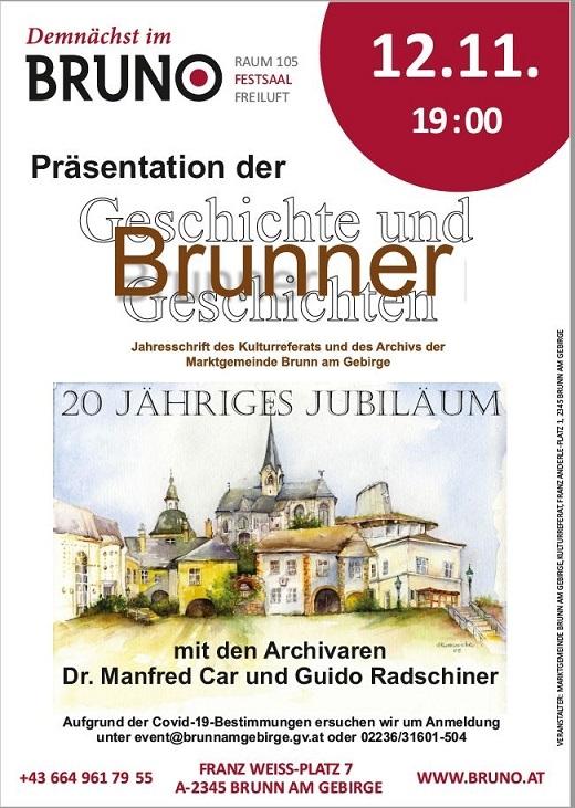 Brunner Geschichte und Geschichten - 20 jähriges Jubiläum